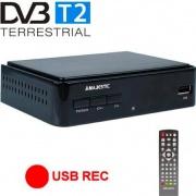 NEW MAJESTIC DEC-664HD Decoder Digitale Terrestre DVB-T2 Scart HDMI Nero