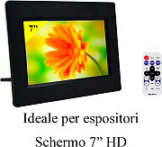 "NEW MAJESTIC Cornice digitale portafoto 7"" hd usb sdmmc DF918HD"