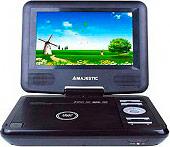 """NEW MAJESTIC DVX-166 USBSD Lettore DVD Portatile 7"""" Mp3 USB Telecomando Nero"""
