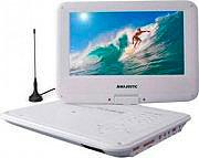 """NEW MAJESTIC Lettore DVD portatile + DVB-T 9"""" MP3 USB AV Ricaricabile DVX-261D"""