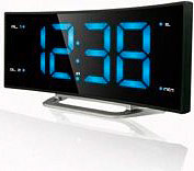 NEW MAJESTIC Radiosveglia Digitale FM Display Curvo Funzione snooze RS-134