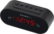 NEW MAJESTIC RS-135 BK Radiosveglia digitale Radio FM Snooze Doppio Allarme