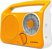 NEW MAJESTIC RT189 Radio Portatile Stereo AM FM Alimentazione Batterie Arancione