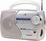 NEW MAJESTIC Radio portatile compatta AMFMSW1SW2 Uscita Cuffie - RT 181 SILVER