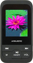 "NEW MAJESTIC Lettore Mp3 Mp4 Display 1,8"" Radio FM col. Nero - 111671 SDA-1671"