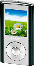 "NEW MAJESTIC Lettore Mp3 1.8"" 4GB Radio FM Ricaricabile USB SDA-4357 SDA-4357BK"
