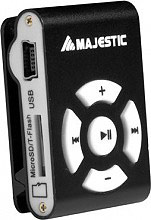 NEW MAJESTIC SDB8309 Mini Lettore Mp3 8 GB Clip colore Nero