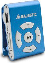 NEW MAJESTIC SDB8309 Mini Lettore Mp3 8 GB Clip colore Blu