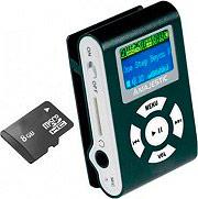 NEW MAJESTIC Lettore MP3 8 GB MicroSD USB Radio FM SDB-8339 BLACK