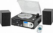 NEW MAJESTIC Giradischi 33  45  78 giri Lettore CD Mp3 USB Radio FM AM Cassette - TT-38N