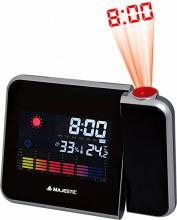 NEW MAJESTIC WT-229 Sveglia Digitale con Proiezione Ora Display LCD Snooze Nero