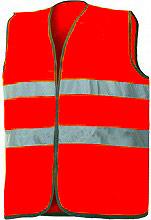 INDUSTRIAL STARTER 01210N Gilet Alta visibilità in Poliestere Taglia Unica Arancio fluo