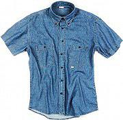 SOCIM Camicia Uomo in Cotone Denim Manica corta Taglia M colore Azzurro 10500