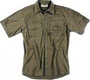 SOCIM Camicia Uomo in Cotone Manica corta Taglia L colore Verde Scuro 2513V