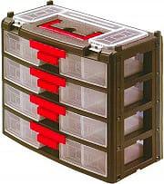 NOUVELLE PLASTIQUE Cassettiera Portaminuterie 4 cassetti 23 Scomparti 395