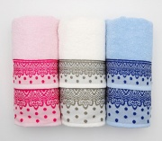 NOVIA DALILA Set di Asciugamani 3+3 di Spugna 100% Cotone 50x100 + 40x60