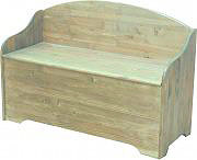 NO BRAND Cassapanca legno Baule Panca Contenitore 100x40x4070h cm