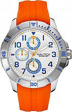 Nautica Orologio Uomo Cronografo cassa Acciaio e Cinturino Gomma NAI12507G