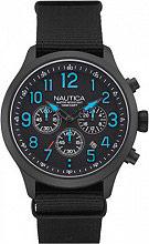 Nautica Orologio Uomo Analogico Cronografo Acciaio Cinturino Tessuto NAI16514G