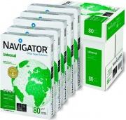 Navigator NUN0800533 Risma Carta A4 5 Risme da 500 Fogli Seta Bianco UNIVERSAL