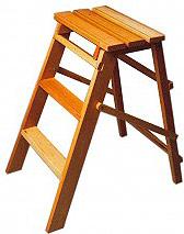 NBrand SG3 Scala scaletta pieghevole 3 gradini in legno altezza 79 cm