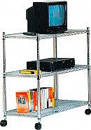 NBrand YJ609 Mobile porta TV LED Scaffale 3 ripiani con ruote 61x36x83  America
