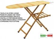 New Mottinox T257 Tavolo da Stiro Legno Faggio Noce