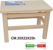 New Mottinox T524 Sgabello Legno Faggio Naturale