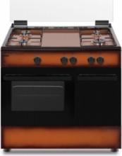 Nikkei SN490BG Cucina a Gas con Forno a gas 4 Fuochi 90x60 Marrone