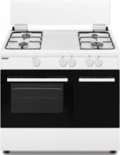 Nikkei SN490WG Cucina a Gas con Forno a gas 4 Fuochi 90x60 Bianco