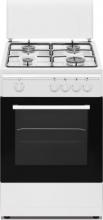 Nikkei SN554WG Cucina a gas con forno a gas 4 Fuochi 50x50 cm colore Bianco