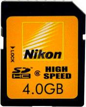 Nikon Scheda di Memoria 4 GB SDHC Classe 10 Memoria Flash ALM00038NK