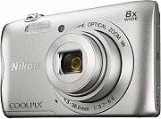 Nikon A300 SILVER Fotocamera Digitale 20Mpx CCD 8x Wi-Fi Bluetooth Silver Coolpix A300