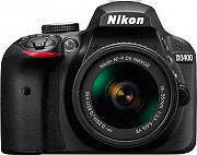 Nikon Fotocamera Reflex Digitale 24,2Mpx CMOS SnapBridge AF-P DX 18-55 VR D3400