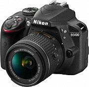 Nikon Fotocamera Digitale Reflex 24 Mpx CMOS Bluetooth + AF-P DX 18-55 - D3400