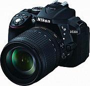"""Nikon Fotocamera digitale reflex 3.2"""" 24.2Mpx 5.8x 18-105mm WiFi D5300 18-105 VR"""