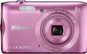 Nikon NCA-302PINK Fotocamera digitale compatta 20.1Mpx Zoom 8x  4x Video Rosa Coolpix A300