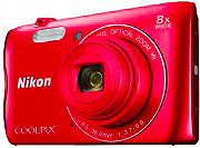 Nikon NCA-302RED Fotocamera digitale compatta 20.1Mpx Zoom 8x  4x Video Rosso Coolpix A300
