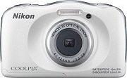 Nikon Fotocamera Digitale 13.2 Mpx WiFi Impermeabile BackPack Bianco W100 Coolpix