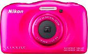 Nikon Fotocamera Digitale 13.2 Mpx Wi-Fi Impermeabile BackPack Rosa W100 Coolpix