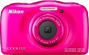 Nikon Fotocamera Subacquea Digitale 13,2Mpx CMOS Full HD Fucsia W100 Coolpix