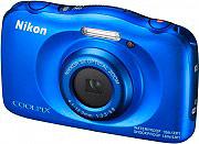 Nikon Fotocamera digitale 13 Mpx Full HD Wi-Fi Impermeabile Blu W100 Coolpix