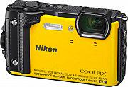 Nikon Fotocamera Digitale 16Mpx CMOS Impermeabile 4K GPS Giallo W300 Coolpix