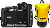 Nikon W300 Fotocamera Digitale Compatta 16 Mpx 4K Wifi Bluetooth Nero COOLPIX