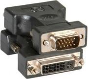 Nilox CR012033110 Cavo di interfaccia e adattatore VGA DVI Nero