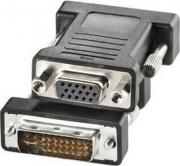 Nilox CRO12033105 Adattatore DVI-I VGA colore Nero