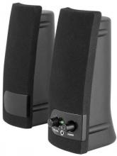 Nilox NXAS001 Casse PC USB Potenza Uscita 4 Watt Coppia Altoparlanti Nero