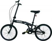 """Nilox NXMB20V1 Bicicletta Adulti Ruote 20"""" in Acciaio colore Nero"""