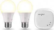 Nital INS141 Kit 2 x Lampadina Smart Alexa  Google E27 8.5 W Bianco Caldo + HUB