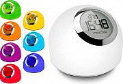 Nodis Sveglia Orologio Display LED funzione Lampada Multicolor LED NT-REVIVAL
